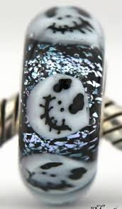 this is halloween sterling silver european charm bead lampwork