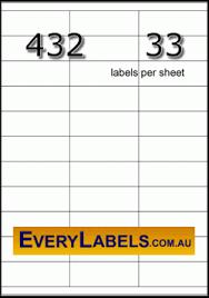 33 Labels Per Sheet Template by 432 Rectangle 70 X 25 4 White Premium Paper Labels Avery