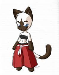 siamese samurai cat sketch by rongs1234 on deviantart