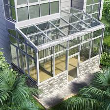 outdoor glass winter garden used sunroom pre fab house duplex