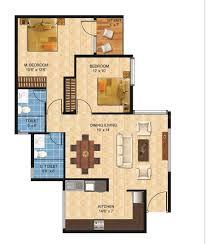 2bhk House Plans Nandi Housing Builders Nandi Citadel Floor Plan Nandi Citadel