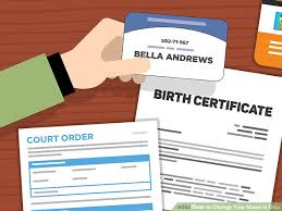 Certification Letter For Name Change 3 Ways To Change Your Name In Ohio Wikihow