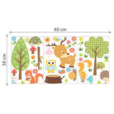 cute animals baby room wall stickers