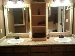 Framing A Large Bathroom Mirror I Used This Idea And Reved My Large Bathroom Mirror This