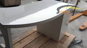 Curved Office Desk Curved Shaped Solid Surface Office Desk