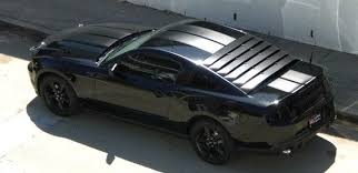 Black Mustang Stripes 2010 Mustang Racing Stripes 10