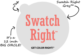 what are swatch right paint color sample decals