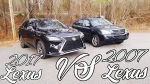 lexus rx 400h size 2017 lexus rx vs 2007 lexus rx 350rx sport vs 400h what has