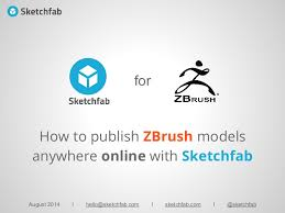 how to publish zbrush 3d models online with sketchfab