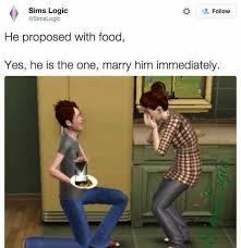 Sims Meme - dopl3r com memes sims logic simslogic follow he proposed with