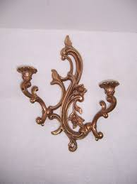 Gold Wall Sconce Candle Holder Triple A Resale Syroco Gold Wall Sconces Candle Holders