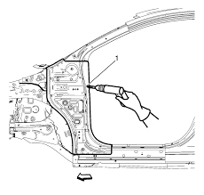 chevrolet sonic repair manual body hinge pillar lower