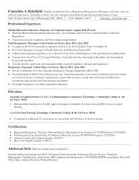 respiratory therapist resume objective sample occupational therapy resume u2013 foodcity me
