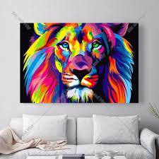 bear lion eagle modular canvas art print painting poster wall