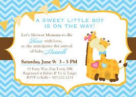 design giraffe baby shower invitations