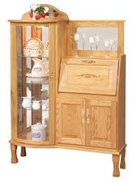 Secretarys Desk Rectangular Curio Cabinet With Desk