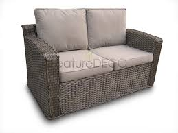 Chelsea High Back Rattan Garden Furniture Set In Natural - Rattan furniture set