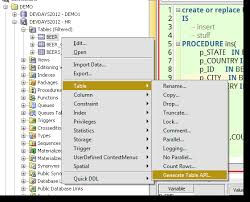 Create Table Oracle Sql An Oracle Designer Feature Generating Table Apis With Oracle Sql
