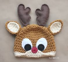 crochet rudolph reindeer hat pattern repeat crafter