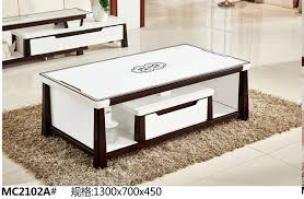 Living Room Table With Drawers Mc2102a Modern Living Room Furniture Glass Top Tea Table Coffee