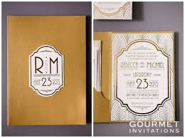 art deco wedding invitations gourmet invitations