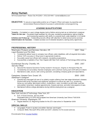 Correctional Officer Skills Resume Linguist Resume Resume For Your Job Application