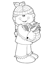 pilgrim and indian thanksgiving coloring pages children thanksgiving
