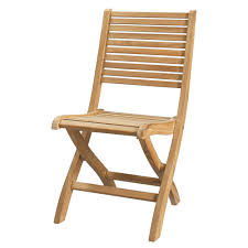 chaise de pliante chaise pliante de jardin en teck massif maisons du monde