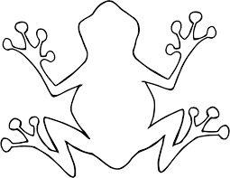 coloring sheet of cartoon outline frog for kids coloring point