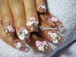cynful nails clear pink acrylic nails