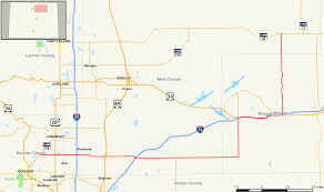 Greeley Colorado Map by Colorado State Highway 52 Wikipedia