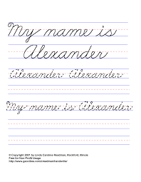 basic handwriting for kids cursive names male non javascript