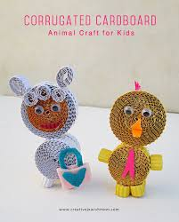 corrugated paper animal craft for kids creative jewish mom