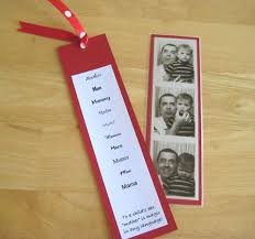 bookmark favors wedding favors photo booth bookmarks favecrafts