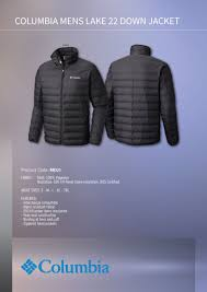 columbia ultra light down jacket proactive clothing suppliers of promotional corporate and uniform