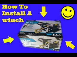 how to install a winch on a car truck or atv traveller 2500lb