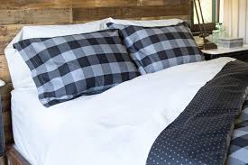 and charcoal buffalo check duvet cover