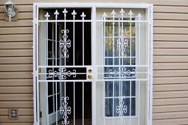 How To Secure Patio Door Security Doors For Residential Homes Wrought Iron Security