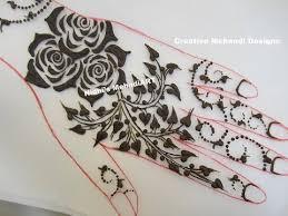 diy roses flower with tree leaf henna mehndi design tutorial