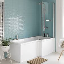 towel radiators showers mirror cabinets from soak 1700mm right hand l shaped bath with screen rail side panel excludes