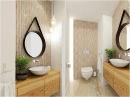 bambus badezimmer wandfliesen in bambus optik und holz waschtisch mit rundem