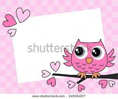 or baby shower pink owl birthday baby shower stock vector 173811485