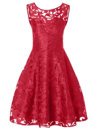 lace plus size holiday short cocktail dress bright red xl in