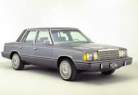 1980s dodge cars la fin du tunnel pour chrysler aries cars and sedans