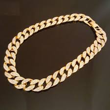 link choker necklace images Jp jewelry hip hop quavo full iced out 30 quot miami cuban link jpeg