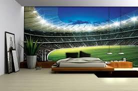 sports murals for bedrooms football stadium wallpaper mural 323ve football bedrooms