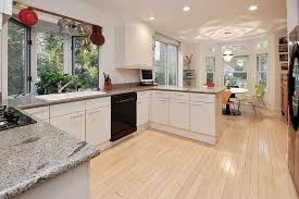 kitchen with hardwood floors european cabinets in white plains