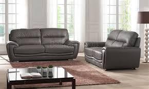 canapé 3 et 2 places canapé design 3 2 places cuir look luxe gris salerne