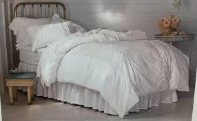 Shabby Chic White Comforter New Simply Shabby Chic Twin White Ruffle Heirloom Comforter Pillow