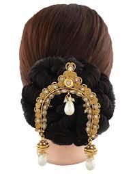 hair broach buy anuradha golden designer bun pin maharashtrian hair brooch